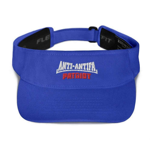 American Patriots Apparel Visor Royal / OSFA White Anti-Antifa Red Patriot Transparent Star Visor (5 Variants)