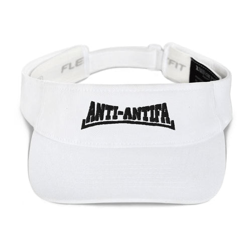 American Patriots Apparel Visor White / OSFA Anti-Antifa Black Text Flexfit Visor (5 Variants)