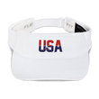 Load image into Gallery viewer, American Patriots Apparel Visor White / OSFA Red & Navy Blue USA Statue of Liberty Visor (5 Variants)