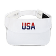 Load image into Gallery viewer, American Patriots Apparel Visor White / OSFA Red & Navy Blue USA Visor (5 Variants)
