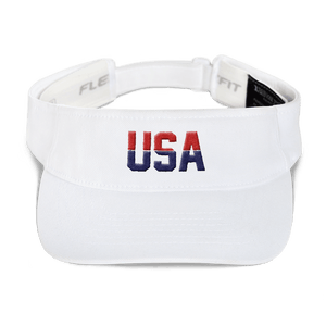 American Patriots Apparel Visor White / OSFA Red & Navy Blue USA Visor (5 Variants)