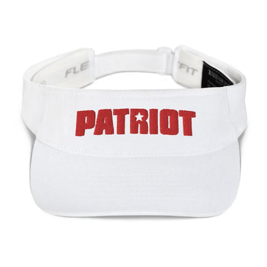 American Patriots Apparel Visor White / OSFA Red Patriot Transparent Star Flexfit Visor (5 Variants)