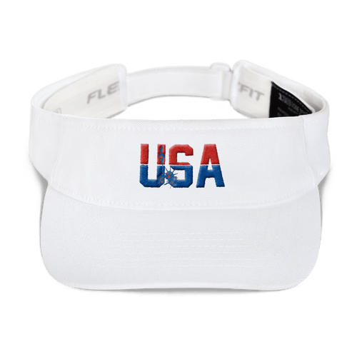 American Patriots Apparel Visor White / OSFA Red & Royal Blue USA Statue of Liberty Visor (5 Variants)