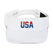 Load image into Gallery viewer, American Patriots Apparel Visor White / OSFA Red & Royal Blue USA Visor (5 Variants)