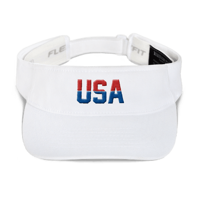 American Patriots Apparel Visor White / OSFA Red & Royal Blue USA Visor (5 Variants)
