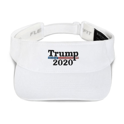 American Patriots Apparel Visor White / OSFA Trump 2020 Black Text Flexfit Visor (5 Variants)
