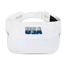 Load image into Gallery viewer, American Patriots Apparel Visor White White & Royal Blue USA Logo American Visor (5 Variants)