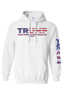 American Patriots Apparel White / 3XL / FRONT Unisex Trump USA Make America Even Greater Pullover Hoodie