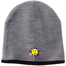 Load image into Gallery viewer, CustomCat Winter Hats Athletic Oxford/Black / One Size Super Happy Fun America CP91 100% Acrylic Beanie (4 Variants)