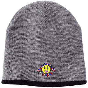 CustomCat Winter Hats Athletic Oxford/Black / One Size Super Happy Fun America CP91 100% Acrylic Beanie (4 Variants)