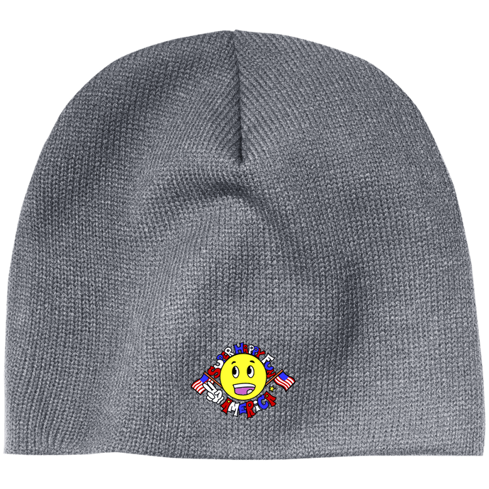 CustomCat Winter Hats Athletic Oxford / One Size Super Happy Fun America CP91 100% Acrylic Beanie (4 Variants)