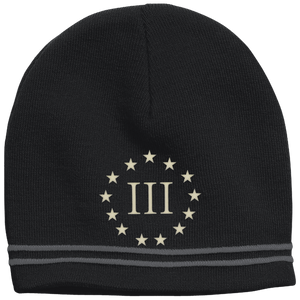 CustomCat Winter Hats Black/Iron Grey / One Size III% Stars STC20 Colorblock Beanie (3 Variants)
