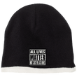 Load image into Gallery viewer, CustomCat Winter Hats Black/Natural / One Size All Lives Matter Not Just Black ones CP91 100% Acrylic Beanie (5 Variants)