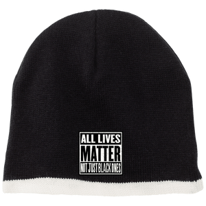 CustomCat Winter Hats Black/Natural / One Size All Lives Matter Not Just Black ones CP91 100% Acrylic Beanie (5 Variants)
