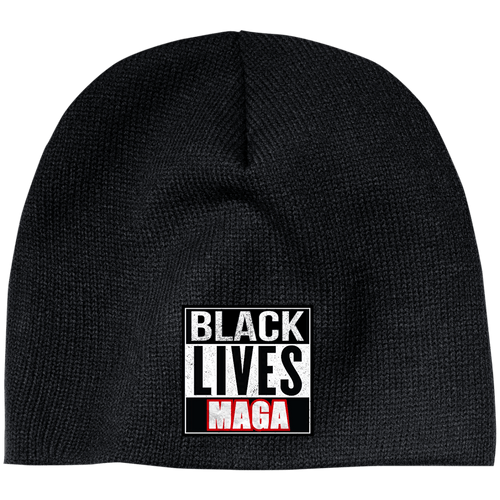 CustomCat Winter Hats Black / One Size Black Lives MAGA CP91 100% Acrylic Beanie (5 Variants)