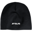 Load image into Gallery viewer, CustomCat Winter Hats Black / One Size JESUS CP91 100% Acrylic Beanie (5 Variants)