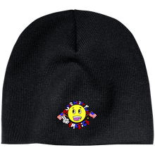 Load image into Gallery viewer, CustomCat Winter Hats Black / One Size Super Happy Fun America CP91 100% Acrylic Beanie (4 Variants)