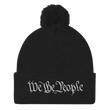 Load image into Gallery viewer, American Patriots Apparel Winter Hats Black / One Size We the People Pom Pom Knit Cap (10 Variants)
