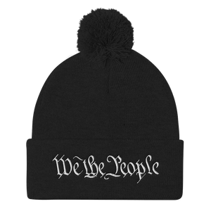 American Patriots Apparel Winter Hats Black / One Size We the People Pom Pom Knit Cap (10 Variants)