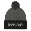 Load image into Gallery viewer, American Patriots Apparel Winter Hats Dark Heather Grey/ Black / One Size We the People Pom Pom Knit Cap (10 Variants)