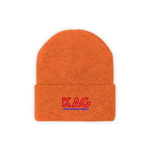Printify Winter Hats Deep Orange / One size KAG Knit Beanie (10 Variants)