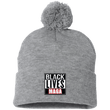 Load image into Gallery viewer, CustomCat Winter Hats Heather Grey/ / One Size Black Lives MAGA SP15 Pom Pom Knit Cap (12 Variants)