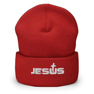 American Patriots Apparel Winter Hats Jesus Cross Cuffed Beanie (6 Variants)