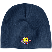 Load image into Gallery viewer, CustomCat Winter Hats Navy / One Size Super Happy Fun America CP91 100% Acrylic Beanie (4 Variants)