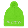 Load image into Gallery viewer, American Patriots Apparel Winter Hats Neon Green / One Size We the People Pom Pom Knit Cap (10 Variants)