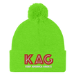 Load image into Gallery viewer, American Patriots Apparel Winter Hats Neon Green / OSFA KAG Keep America Great! Pom-Pom Beanie (10 Variants)