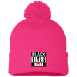 Load image into Gallery viewer, CustomCat Winter Hats Neon Pink / One Size Black Lives MAGA SP15 Pom Pom Knit Cap (12 Variants)
