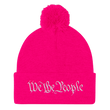 Load image into Gallery viewer, American Patriots Apparel Winter Hats Neon Pink / One Size We the People Pom Pom Knit Cap (10 Variants)