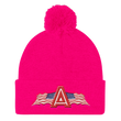 Load image into Gallery viewer, American Patriots Apparel Winter Hats Neon Pink Pom Pom Knit Cap With APA Logo