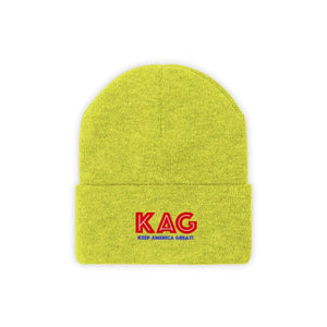Printify Winter Hats Neon Yellow / One size KAG Knit Beanie (10 Variants)