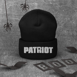 American Patriots Apparel Winter Hats Patriot Star White Text Cuffed Beanie (6 Variants)