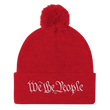 Load image into Gallery viewer, American Patriots Apparel Winter Hats Red / One Size We the People Pom Pom Knit Cap (10 Variants)