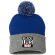Load image into Gallery viewer, CustomCat Winter Hats Royal/Heather Grey / One Size Black Lives MAGA SP15 Pom Pom Knit Cap (12 Variants)
