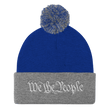 Load image into Gallery viewer, American Patriots Apparel Winter Hats Royal/ Heather Grey / One Size We the People Pom Pom Knit Cap (10 Variants)