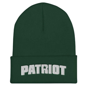 American Patriots Apparel Winter Hats Spruce Patriot Star White Text Cuffed Beanie (6 Variants)