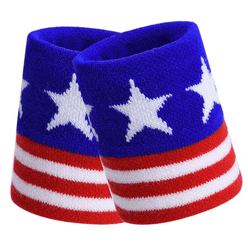 The Flag Shirt Wristband One Size / Red/White/Blue Stars Over Stripes Wristbands