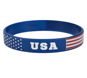 The Flag Shirt Wristband One Size / Red/White/Blue USA America Wristband