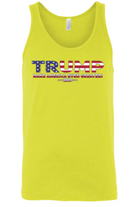 American Patriots Apparel XXL / FRONT / Yellow Unisex Trump USA Make America Even Greater Tank Top