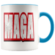 Load image into Gallery viewer, teelaunch Coffee Mug Blue / 11 oz. 11 oz. MAGA Ceramic Accent Coffee Mug (7 Variants)