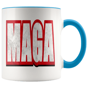 teelaunch Coffee Mug Blue / 11 oz. 11 oz. MAGA Ceramic Accent Coffee Mug (7 Variants)