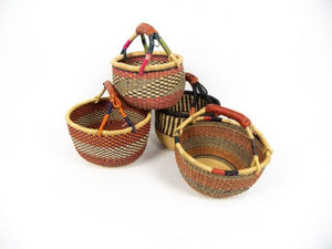 Bashiri Medium Round Bolga Basket