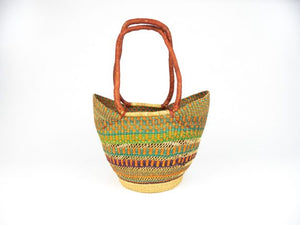 Bashiri Shopper Long Handle Bolga Basket