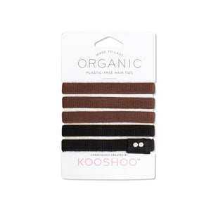 KOOSHOO Organic Hair Ties 5PK - Choose Colours