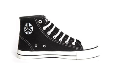 Etiko Sneakers Hitops Black & White Organic Fairtrade