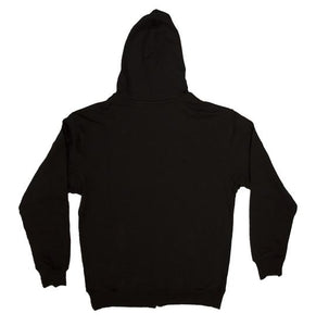 Etiko Unisex Black Hoodie Zipped Organic Fairtrade