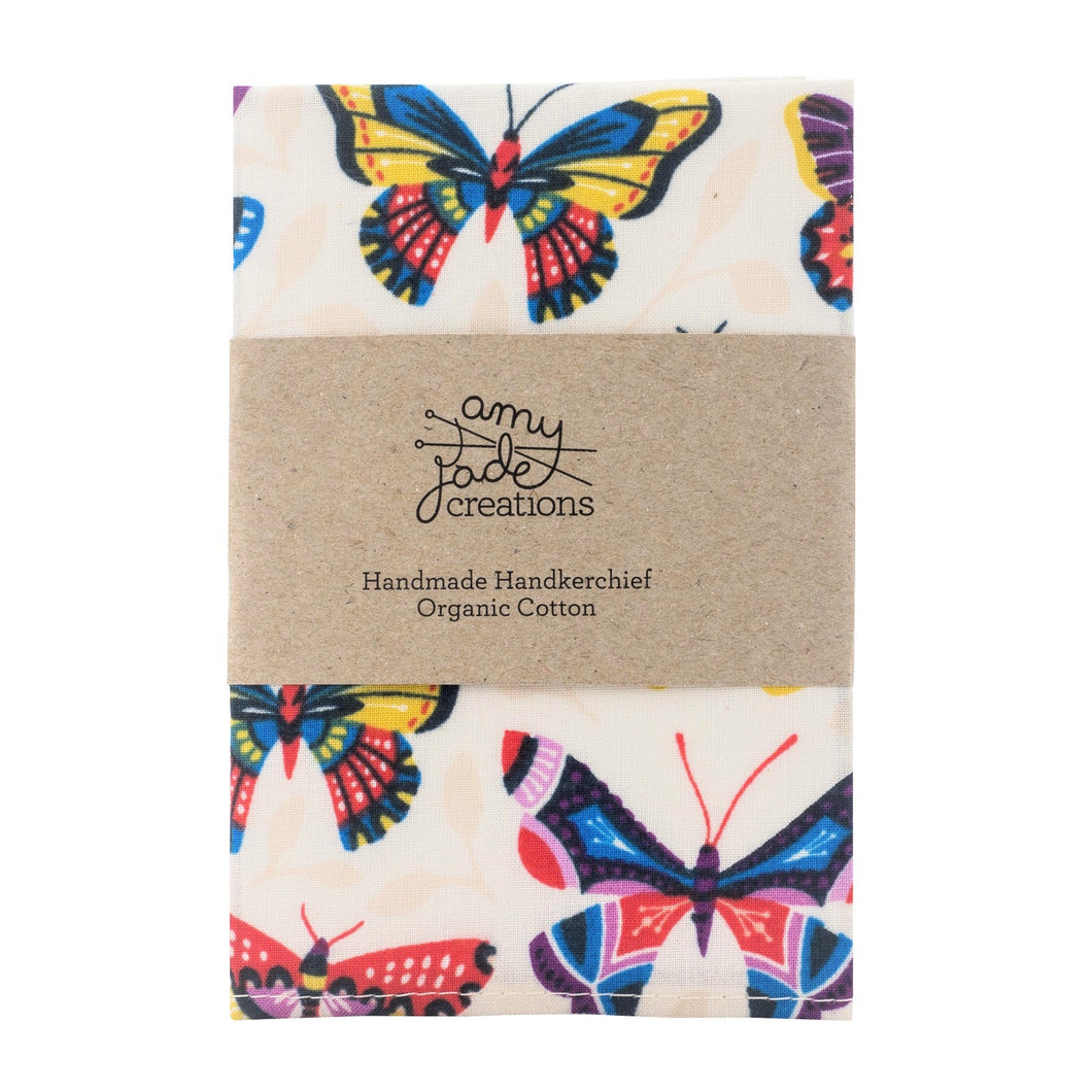 Zero Waste Store Amy Jade Creations Cotton Hankercheif 1 Butterfly